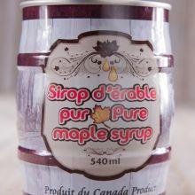 Conserve de sirop d'érable 540 ml