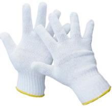 Gant tricot blanc/Paquet de 12